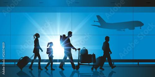 Obraz na plátně Aéroport - Famille - Voyage