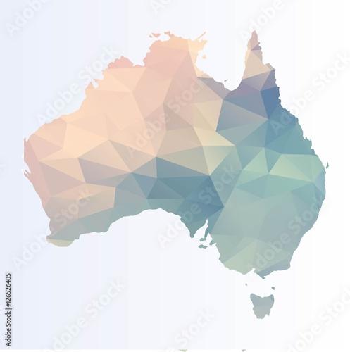 Wallpaper Mural Polygonal map of Australia