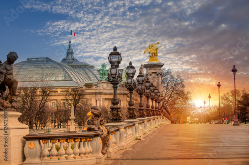 Naklejki na drzwi Most Aleksandra III w mieście Paryż