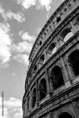 Foto Colosseo in bianco e nero