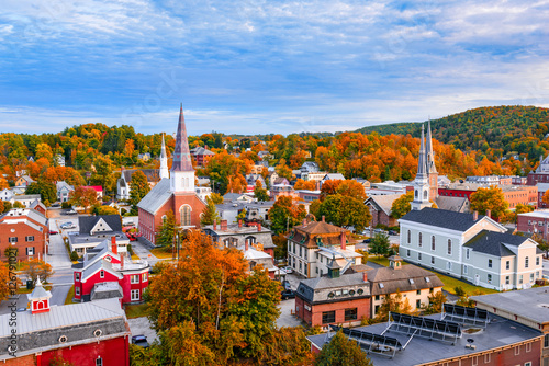 Montpelier, Vermont, USA town Skyline. Fototapeta