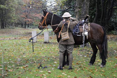 Valokuva British World War One Cavalry Soldier