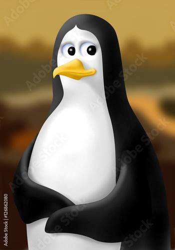 pinguino gioconda Fototapet
