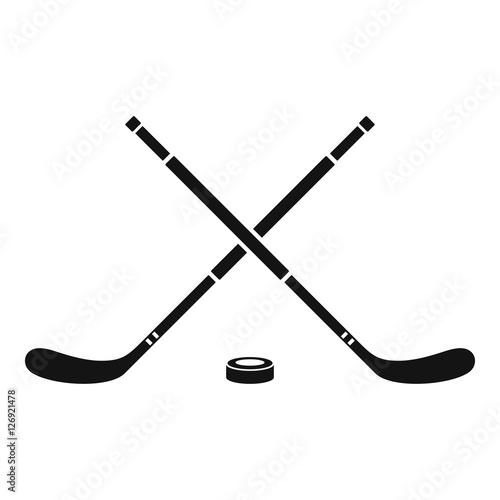 Canvas Print Hockey icon. Simple illustration of hockey vector icon for web