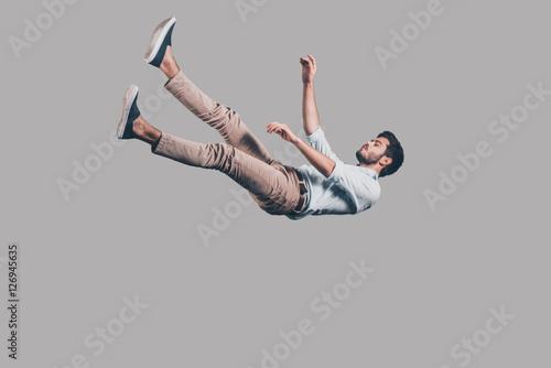 Canvas Print Man falling down.