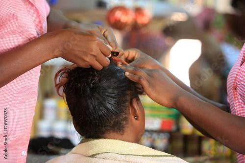 Wallpaper Mural Atelier de coiffure Lomé