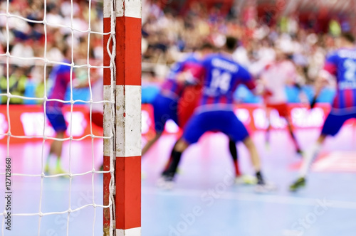 Handball match scene