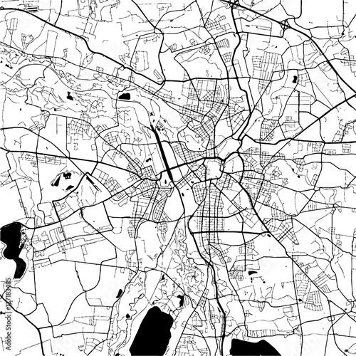 Fototapeta Leipzig, Germany Monochrome Map Artprint