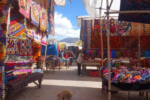 Wallpaper Mural Market day Sacred Valleys Peru