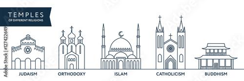 Temples of world different religions Fototapeta