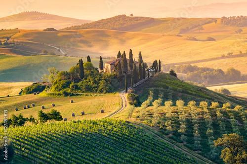 Fototapeta premium Toskania, Włochy. Krajobraz