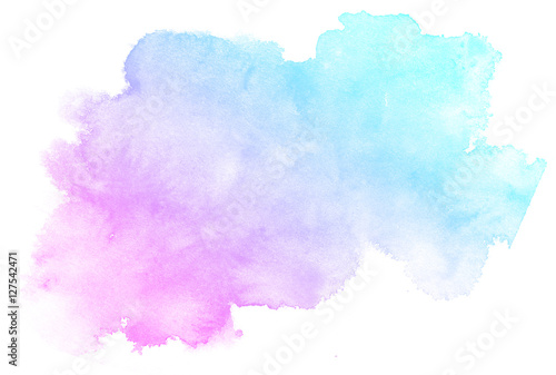 Fototapeta Abstract pink watercolor on white background
