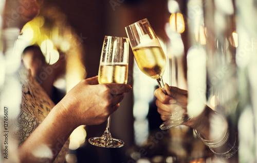 Obraz na plátně Restaurant Chilling Out Classy Lifestyle Reserved Concept