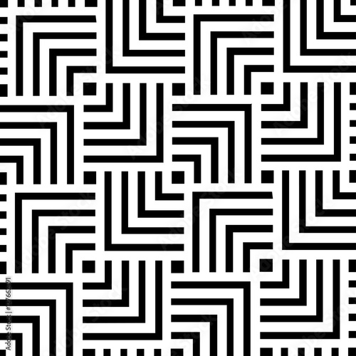 Black and white geometric pattern background design | Abstract modern art decorative