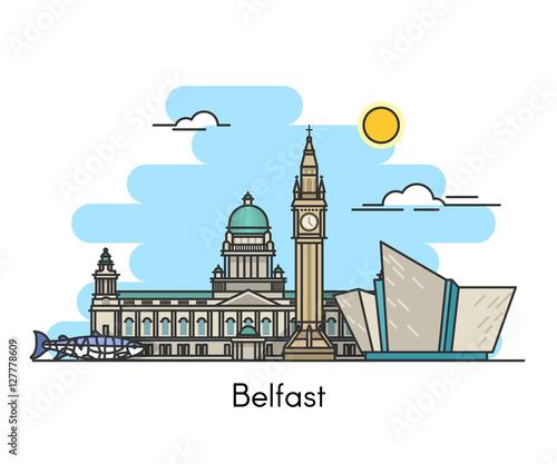 Fotografija Belfast skyline . Ireland, United Kingdom
