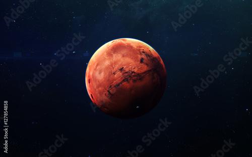 Fotografia Mars - High resolution beautiful art presents planet of the solar system
