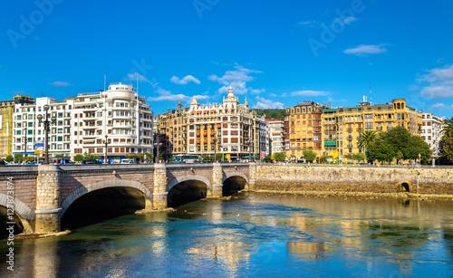Obraz na plátne Cityscape of San Sebastian or Donostia - Spain