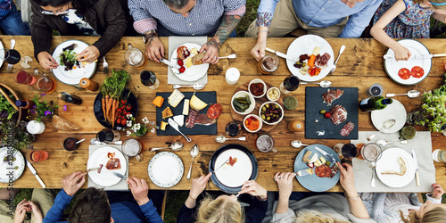 Photo Group Of People Dining Concept