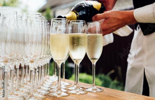 Tableau sur Toile Verres de champagne