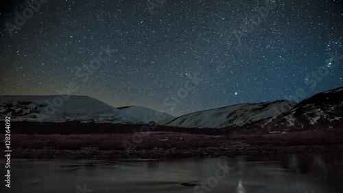 Fotografie, Tablou Findhorn valley starscape