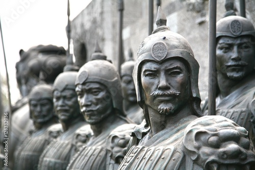 Canvas-taulu terracotta sculptures depicting the armies of Qin Shi Huang, the first Emperor o