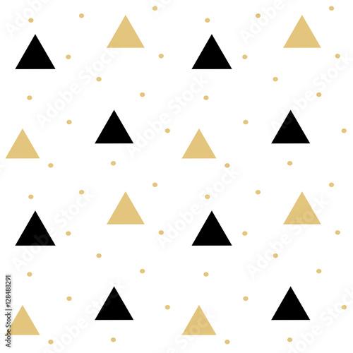Fototapeta gold black scandinavian seamless vector pattern background illustration with tri