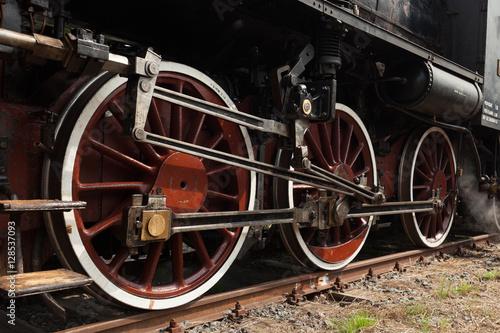 Wallpaper Mural Part of vintage steam train