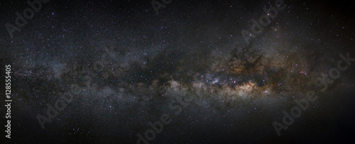 Panorama milky way galaxy with stars and space dust in the unive