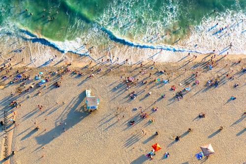 Photo Santa Monica beach from above