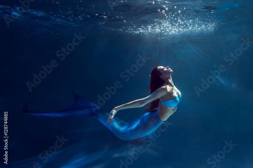 Wallpaper Mural Underwater mermaid