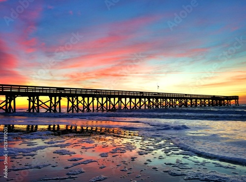 Obraz na plátne Sunrise on the Isle of Palms, SC