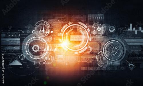 Virtual interface background