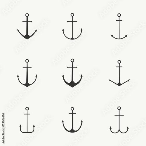Fototapeta Anchor set