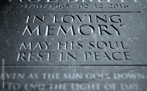 Obraz na plátne Gravestone In Loving Memory