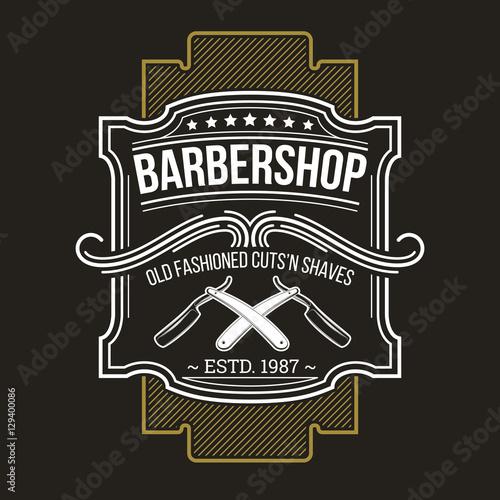 Fotografia Vector barbershop emblem, signage