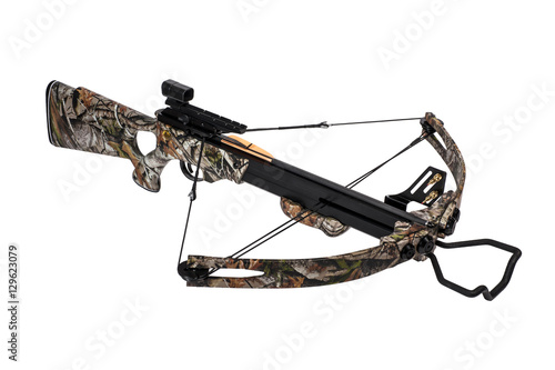 Fotografia Crossbow iisolated on a white background