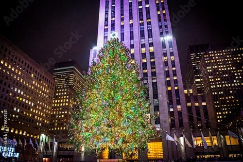 Canvas Print Rockefeller Center Tree