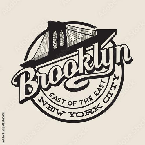 Canvas Print Brooklyn New York City vintage typography t-shirt,  poster, printing design