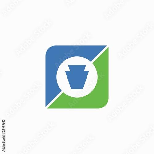 Valokuvatapetti Keystone logo design