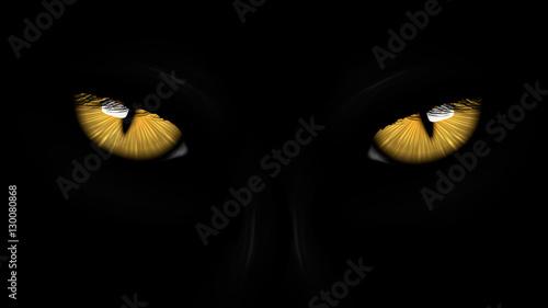 Obraz na plátně yellow eyes black Panther