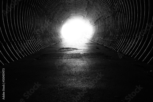 Canvas-taulu light at the end of the tunnel