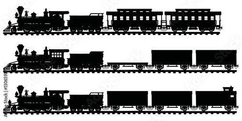 Obraz na plátně Classic american steam trains