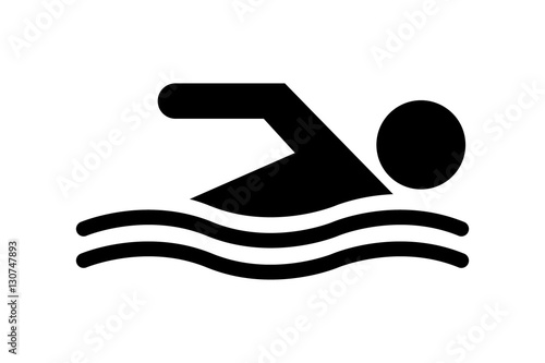 Wallpaper Mural Vektor - Schwimmen / Vector - Swimming