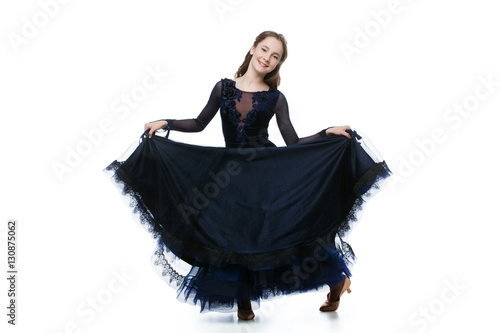 Beautiful teenage ballroom dancer Fototapeta