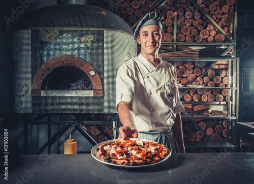 Plakat Kucharz i pizza