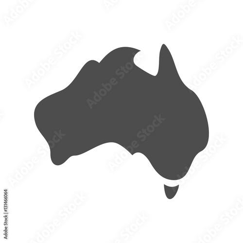 Canvas Print australia map vector.