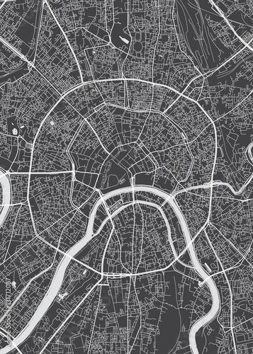 Fototapeta Moscow city plan, detailed vector map
