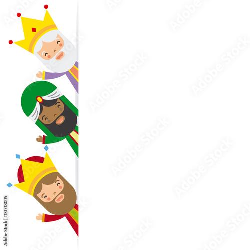 three kings of orient. blank space Fototapeta