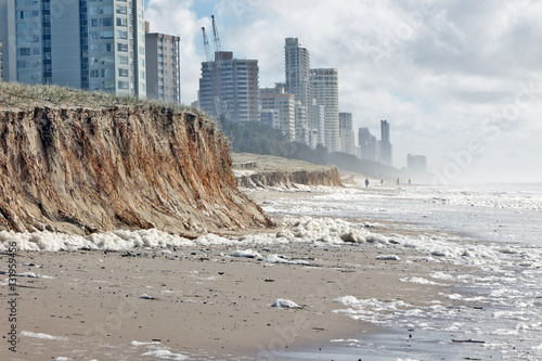 Fotografie, Tablou Beach erosion after storm activity