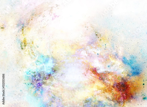 Fototapeta Cosmic space and stars, color cosmic abstract background.